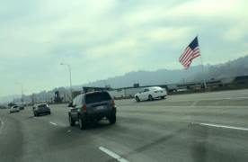 Driving on Highway 101, North Bay, San Fran