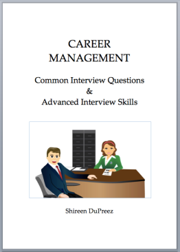 Cover - Common Interview Questions and Advanced Interview Skills