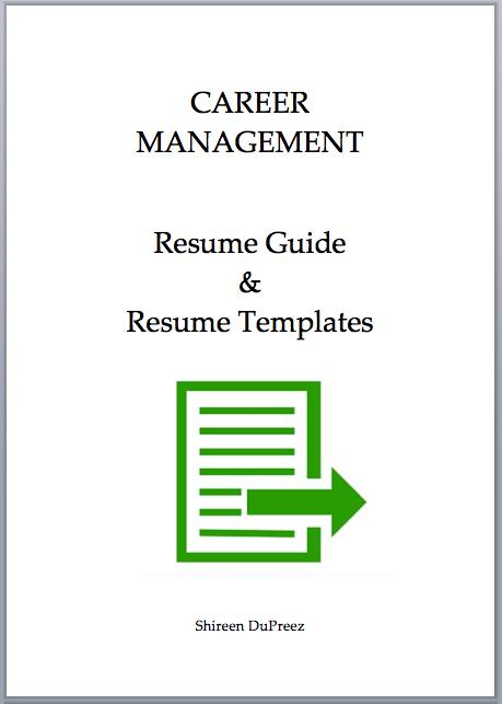 Resumes eBook | Shireen DuPreez